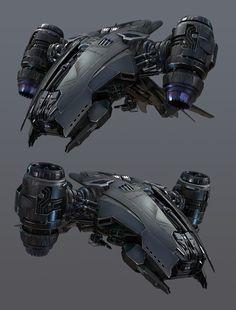 Terminator Salvation HK, he tianxiang Space Ship Concept Art, Robot Concept Art, Concept Ships, Concept Weapons, Spaceship Art, Spaceship Design, Futuristic Technology, Futuristic Cars, Cyberpunk Character