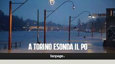 Maltempo, il fiume Po esonda a Torino: strade sommerse dall'acqua