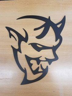 Dodge Challenger Demon metal wall art plasma cut decor
