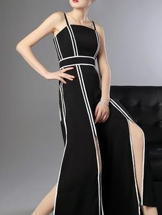 d5da411acc Buy For Women from HOLA SARA at StyleWe. Online Shopping Elegant Binding  Spaghetti Sleeveless Slit · Designer JumpsuitsOpposites ...