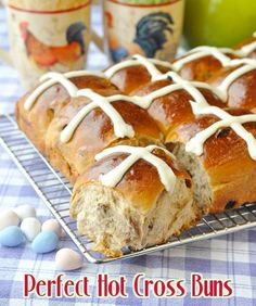 Perfect Hot Cross Buns - a traditional Easter treat yes, but these gorgeous sweet rolls are sure to be appreciated at brunch any time of year that you serve them.