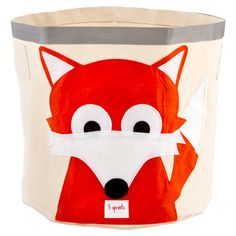 Our NEW Fox Canvas Bin prevents a child's room from turning into a zoo.