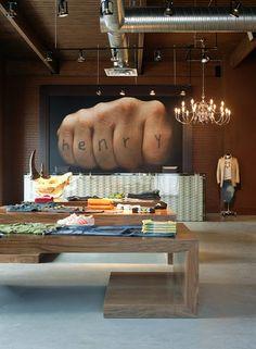 Retail interior design by Mckinley Burkart.