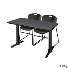Regency Seating Cain Metal/ 42-inch x 24-inch Training Table With 2 Zeng Stacking Chairs