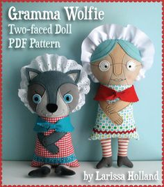 Little Red/Gramma Wolfie Combo PDF Patterns by mmmcrafts on Etsy