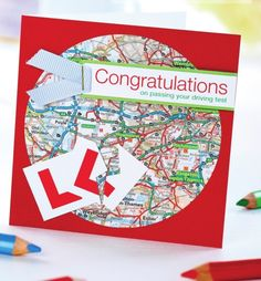 Congratulations Driving Test Card - Free Craft Project – Card Making Card Making Ideas Free Printables, Passed Driving Test, Masculine Birthday Cards, Handmade Card Making, Card Making Techniques, Congratulations Card, Card Sketches, Test Card, Homemade Cards