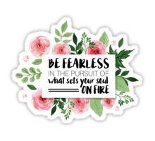 Pink Floral Quote Sticker Sticker
