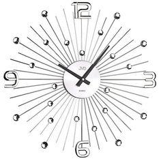 Crystal nástenné hodiny JVD HT074.2, antracit 49 cm, nastenne hodiny, na stenu, dekoracie do bytu, dizajn