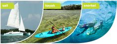 Sail, kayak or snorkel with Key West Eco Tours.