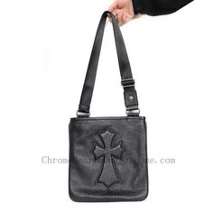 873a4f402f1 Chrome Hearts Shoulder Bag Leather Cross Black Discount 50%
