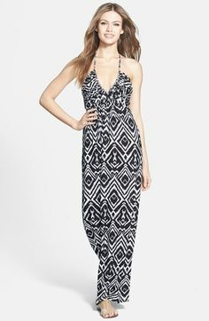 Tbags Los Angeles Print Jersey Maxi Dress available at #Nordstrom