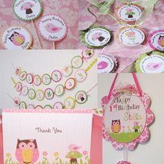 Owl, Bird, and Toadstool Birthday