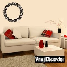 Round Tribal Flames Wall Decal - Vinyl Decal - Car Decal - DC 014