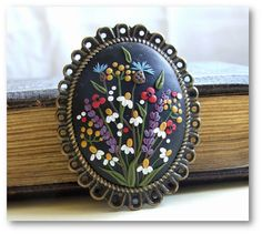 Vintage Style Necklace Statement Necklace by VintageFloralJewel