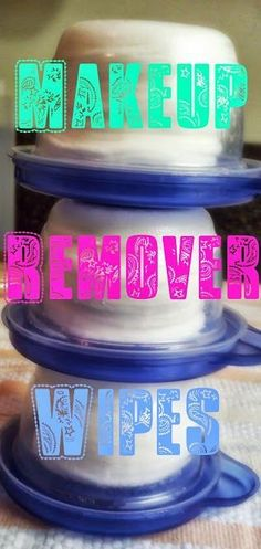 DIY {Waterproof} Makeup Remover Wipes! ◾1 Cup Water ◾1 1/2 TBS Tear Free Baby Shampoo ◾2 TBS Coconut Oil ◾Cotton Rounds ◾Container (I used Ziplock containers because they were small and portable and have a nice tight lid) by alhely