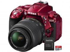 """Câmera Digital Nikon D5300 24.2MP LCD 3.2"""" - Giratório Filma Full HD Wi-Fi + Cartão 16GB"""