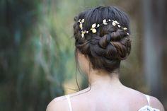 Grandes feuilles & Couronne de perles Accessoires par avigailadam