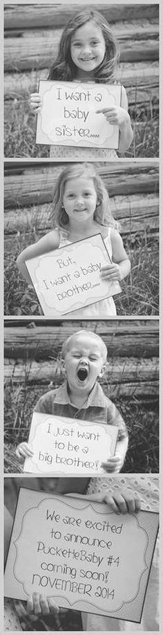 #baby#4 #sisters #brother #family #pregancyannouncement #love #blackandwhite #signs #gladysvirginia #beautiful  Christine Mosby Photography www.clmosbyphotography.com