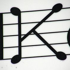 K is a musical note