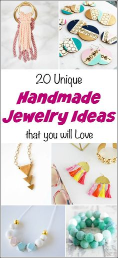 20 Unique Handmade Jewelry Ideas that You will Love, handmade earrings, easy handmade jewelry tutorials, DIY jewelry, unique jewelry, easy DIY jewelry.  via @justthewoods