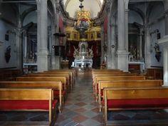 Interior da igreja nas muralhas-Dubrovnik