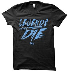 Legends Tee - (Black / Carolina Blue)