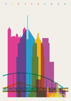 Colorful Posters Of Famous Landmarks, Measured According To Height - DesignTAXI.com