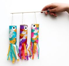 34 japanese flying carp http://hative.com/homemade-animal-toilet-paper-roll-crafts/