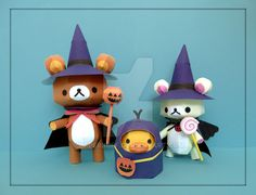 Rilakkuma Halloween Papercraft by PaperBuff.deviantart.com on @DeviantArt