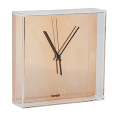 Keep the time in ultimate style with this stunning Tic&Tac clock from Kartell. Designed by Phillipe Starck with Eugeni Quitllet, this box style clock made from ABS, with a copper coloured face made fr