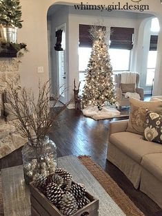 Are you searching for pictures for farmhouse christmas tree? Browse around this website for perfect farmhouse christmas tree inspiration. This amazing farmhouse christmas tree ideas looks absolutely excellent. Farmhouse Christmas Decor, Country Christmas, Christmas Island, Noel Christmas, White Christmas, Christmas Lights, Cheap Christmas, Christmas Kitten, Christmas Movies