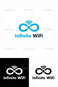 Infinite WiFi Logo Template by mudi Related Products Professionally designed Infinite Wifi Logo Template. This logo can be used by internet providers and also compan Cell Phone Companies, Internet Providers, Vector Logo Design, Bold Fonts, Game Logo, Animal Logo, Graphic Design Inspiration, Logo Templates, Wifi