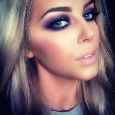 Ooo to go back blonde or not? love the purple smoky eye