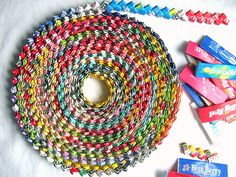 Another past time our kids have no clue about.  Endless class hours were spent making these!