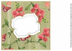 Cream Sweetpeas Fancy 8in Insert Panel on Craftsuprint designed by Ann-marie Vaux - I have designed this insert panel for your 8x8in cards and to mix and match with many of my designs including my card fronts and stackers, or use them with any of your projects. Simply cut out and attach using flat glue to the inside of your card. Lots of colour choice available, please check the multi link to see them. - Now available for download!