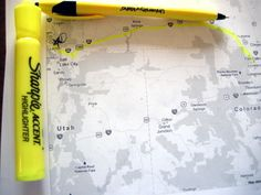 Put map inside of a plastic protector and use a dry-erase marker to map your route.   29 Simple Road Trip Hacks You Need To Know