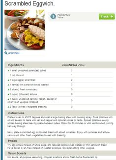 Weight Watchers Simple Start - Scrambled Eggwich. People who attend meetings lose 8X more weight!