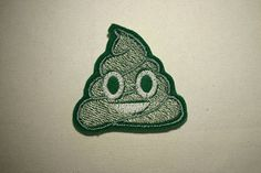 Poop Emoji   Embroidered IronOn SewOn Patch