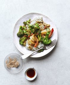 Shrimp and Broccolini Stir-Fry With Sesame Rice | undefined