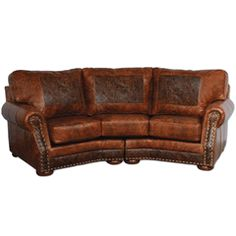 Cameron Ranch Antiquity Ember Curved Sofa