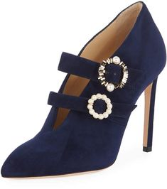 063149ee5774 Jimmy Choo Larissa Suede Double-Strap Embellished Pumps