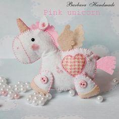 Barbara Handmade...: Różowy jednorożec :)