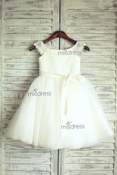 Lace Tulle Cap Sleeves TUTU Flower Girl Dress Wedding door misdress, $46.99