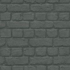 Albany Brick Charcoal Wallpaper main image