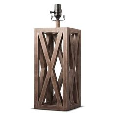 Washed Wood Box Lamp Base Large - Threshold™ (2) 28