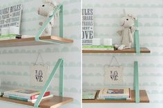 Mint and pale blue baby room inspiration. Toddler Room Decor, Childrens Room Decor, Baby Room Decor, Bedroom Decor, Baby Bedroom, Nursery Room, Kids Bedroom, Kid Spaces, Home And Living