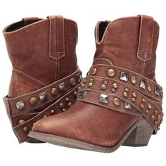 Corral Boots P5042 (Cognac) Women's Boots (2,410 MXN) ❤ liked on Polyvore featuring shoes, boots, ankle boots, cognac shoes, rubber heel caps, studded boots, cap boots and long boots