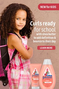Get them ready for going back to school with Johnson's specially-formulated hair care for kids. Tap the Pin to add definition and bounce to your child's curls. Curly Hair With Bangs, Curly Hair Tips, Hair Dos, Curly Hair Styles, Kids Curly Hair Products, Natural Hair Care, Natural Hair Styles, Curl Shampoo, Baby Girl Hairstyles