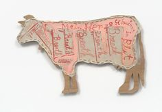 Mixed media cow by Peter Gallo