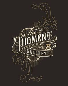 Full detail logo of The Pigment Gallery  by Mateusz Witczak (@mateuszwitczakdesigns on Instagram)